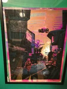 """Blade Runner """"We Scared..."""" Foil Variant Movie Poster Tim Doyle Artist Proof"""