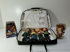 Lot Of Bratz Dolls With Clothes, Shoes And Zipper Case + Boyz extras