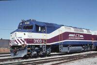 ACE Altamont Commuter Railroad Locomotive SAN JOSE CA Original 1999 Photo Slide