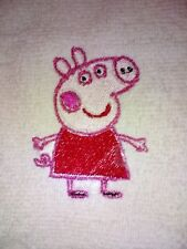 PEPPER PIG EMBROIDERED  FACE CLOTH/LOVELY EMBROIDERED  /TOWELS /KIDS/GIFTS/