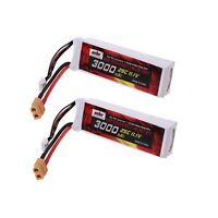 2Pcs 11.1V 3000mAh LiPo Battery (XT-60) Plug for DJI Phantom FC40 F450 F550
