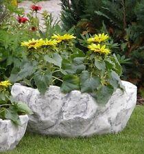 Pflanzschale Stein Optik Vase Steinschale Blumenschale Steinkunst BLACKFORM