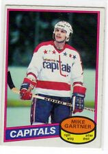 1X MIKE GARTNER 1980 81 O Pee Chee #195 RC Rookie EXNM OPC Capitals