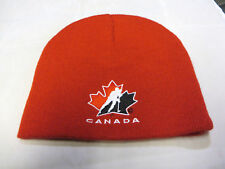 Team Canada Olympic Hockey cap hat beanie red 2010 vancouver maple leaf logo