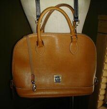 Dooney & Bourke Zip Zip Satchel Saffiano Leather Natural/Black MINT CONDITION 👜