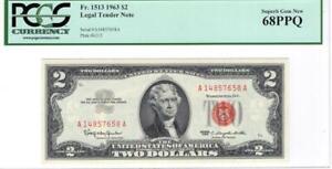 Fr. 1513 $2 1963 Red Seal star Legal Tender PCGS Superb Gem New 68 PPQ