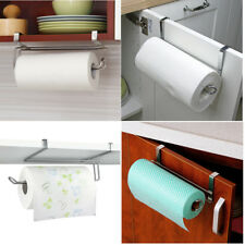 Kitchen/Toliet Roll Paper Towel Holder Stainless Steel Under Cabinet Door Home