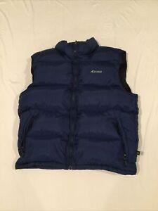 Men's Eastern Mountain Sports EMS Blue Goose Down Full Zip Puffer Vest Sz M