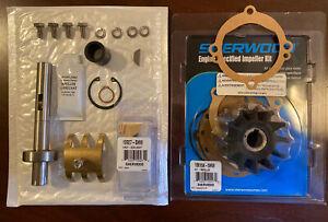 Sherwood Crusader Raw Water Pump Kit 97179 11068 20311 E35 10615 & Shaft 11744