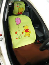 Winnie the Pooh Car Accessory : 2 pcs Car Seat Cover for 1 Seat #Lime