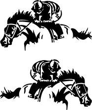 "Jockey Horse Racing Vinyl Decals for Truck or Trailer (2 - 22"" x 11"") Stickers"
