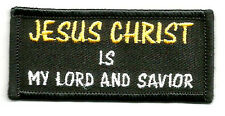 """JESUS CHRIST IS MY LORD AND SAVIOR"" IRON ON PATCH"