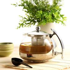 Théière TAICHI en Verre Inox filtre amovible service à thé 750 ML
