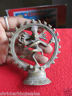 Vintage Brass Hindu God Lord Shiva Dancing Nataraj Figurine Statue Collectible