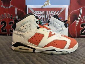 Nike Air Jordan 6 Retro Gatorade Like Mike 384665-145 Size 7Y White Green Orange