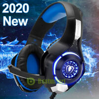 2020 Pro 3.5mm Gaming Headset W/ Mic XBOX One Wireless PS4 Headphones Microphone