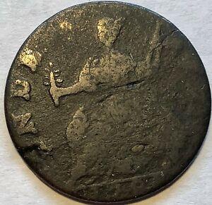 1786 Connecticut Copper VG M.5, 11-R  Scarce Variety R-6