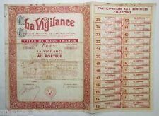 Titre au porteur : La vigilance 1938  ( 423 )