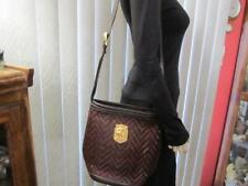 Barry Kieselstein-Cord Horse Head Brown Woven Leather Shoulder Bag/Handbag
