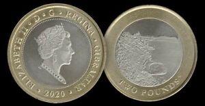 Nueva!! Exclusiva Moneda £ 2 libras Gibraltar 2020 Sandy Bay