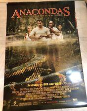 Anacondas Movie Poster DVD Release Home Video Version 27x40 Original Video Store