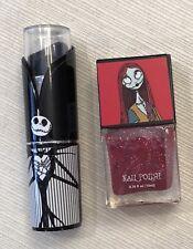 Nightmare Before Christmas Jack Black Lipstick + Sally Red Nailpolish Unopened