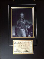 ROBERT THOMAS WILSON - ARMY GENERAL IN MANY CONFLICTS - SIGNED PHOTO DISPLAY