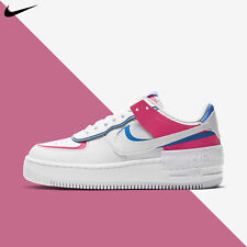 Nike Women's Air Force 1 Shadow Triple White Pink Casual W AF1 2020 CU3012-111