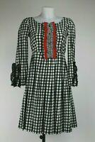 Prada Black and White Gingham Smock Dress, Size:UK10/EU38.