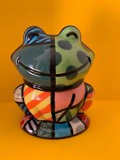 Britto Multi-Color Frog Cookie Jar Item No. #22010 Ceramic  By Westland Gifts