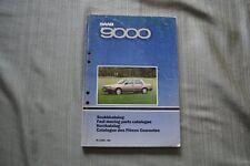 Saab 9000 parts catelogue 1985 to 1988