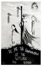 Grandchildren Witches Burn Salem Witch Trials Scary Dark Artwork Art Print 11x17