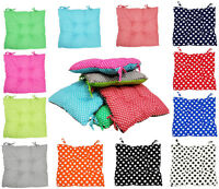 TIE ON CHUNKY POLKA DOT SPOT COTTON SEAT PAD DINING GARDEN OFFICE CHAIR CUSHIONS
