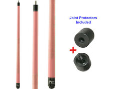 Viper 50-0225 Pink Lady Pool Cue Stick 18-21 oz & Joint Protectors