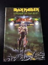 IRON MAIDEN 86/87 SOMEWHERE ON TOUR CONCERT PROGRAM 1986