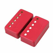 Red Metal Humbucker Neck & Bridge Electric Guitar Pickup Covers Set of 2