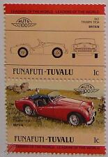 1957 TRIUMPH TR3A Car Stamps (Leaders of the World / Auto 100)