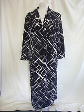 Ladies Frock Coat - Kaleidoscope, size 14, black/white, long, overcoat - 2445