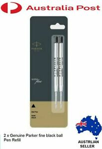 Parker pen refills Medium Black Pack Of 2 Quink ballpen jotter refill Nib 1.0 mm