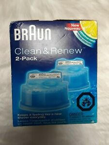 BRAUN Series Clean & Renew cartridge 2-pack Original & Lemonfresh Formula *READ