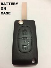 2 BUTTON FLIP KEY CASE-SHELL FOR PEUGEOT 807 3008 5008 EXPERT PEU03