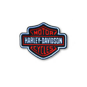Harley Davidson - Iron ON Embroidered Patch. Best Quality. Easy Apply. UK made.
