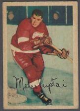 1953-54 Parkhurst Detroit Red Wings Hockey Card #42 Metro Prystai