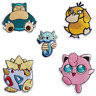Pokemon Iron On Patch Embroidered Sew on Iron On Transfer Snorlax Psyduck Jiggly