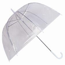 Jaula De Claro Paraguas Cúpula Grande Damas Transparente Boda Lluvia Brolly