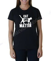 Ladies Cat Lives Matter T Shirt Funny Tee T-shirt Kitty Animal Lovers Kitten