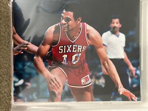 Maurice Cheeks Signed Autographed NBA Sixers 76ers NBA HOF 8x10 Photo