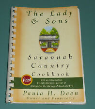 Vintage Signed PAULA DEEN Lady & Sons Savannah Country Cookbook Southern Butter