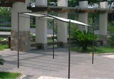 DISRAELI Gazebo a 'Muro' in Metallo, Copertura Ecrù in Poliestere e PVC 3x2,5 m