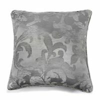 Curtina Anderton Chenille Silver Coloured Unfilled Cushion Cover 43cm x 43cm 286